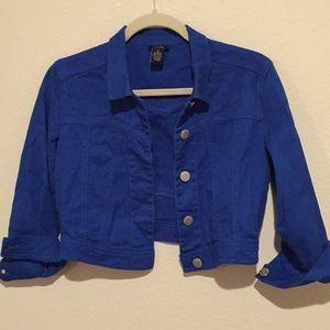 fc510cda3d5f2 Jackets   Coats - Royal Blue Jean Jacket Juniors Small